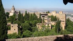 View Over La Alhambra From Palacio del Generalife, Granada, Andalusia, Spain (dannymfoster) Tags: spain andalusia andalucia granada alhambra laalhambra generalife palace palacio palaciodelgeneralife view