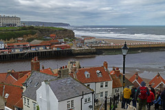 D23213-14,p.   From The Steps. (Ron Fisher) Tags: town whitby yorkshire northyorkshire england gb greatbritain uk unitedkingdom europe europa 199steps panasonic panasoniclumixfz1000 sea ocean northsea nordsee water wasser eau coast harbour waves pier