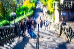 The Stairs (1 of 1)-2 (ianmiddleton1) Tags: edinburgh icm movement composite trams transport people