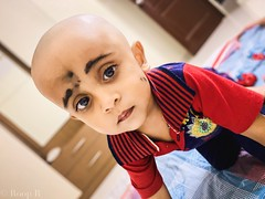 Feeling blessed after a shave..🙏 (roopesh_gwr) Tags: baby random candid niece newlook relaxed blessed cute portraits babies expression