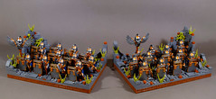 Dwarf Faction Regular Unit: Dwarf Warriors (x2) (WarScape) Tags: lego custom minfigure fantasy medieval castle dwarf army unit regular infantry axe shield warrior mountain rock ruin warscape faction