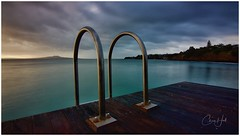 Natures Swimming Pool (cjhall.nz) Tags: longexposure wideangle tokina1120 t4i 650d canon nature serenity calm peaceful tranquility weekend beach seascape landscape daybreak morning sunrise swimming swim pool ladder coast ocean water sea volcano island rangitoto pier wharf jetty newzealand auckland northshore murray'sbay