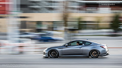 Import Expo 2019 (HisPhotographs.com) Tags: toronto panning action motion car fast slow shutter hyundai genesis coupe gray importexpo importexpo2019 importexpotoronto