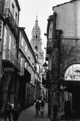 alley (stevebanfield) Tags: caminodesantiago camino nikonfm2 spain monochrome scan shotonfilmstore bw nikon ilford blackandwhite film ilfordphoto