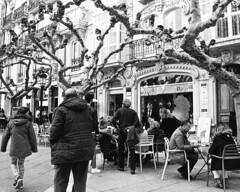 cafe life (stevebanfield) Tags: caminodesantiago camino nikonfm2 nikon monochrome burgos scan ilfordhp5 shotonfilmstore bw ilford spain blackandwhite film ilfordphoto