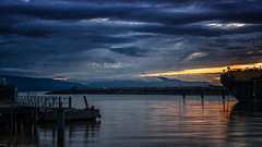 Bellingham Bay (writing with light 2422 (Not Pro)) Tags: bellinghambay bellingham washingtonstate washington wa pnw pacificnorthwest seascape bluehour ship dock richborder rich border sonya7riii sunset
