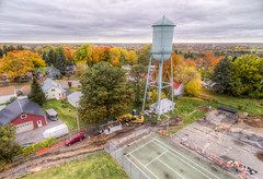 Water Tower Excavation in Heuvelton (Decaseconds) Tags: hdr landscape rural town heuvelton newyork northcountry fall autumn watertower drone quadcopter aerial