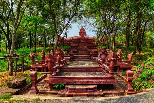 Replica of the Phanom Rung Sanctuary, Buriram,in Muang Boran (Ancient City) in Samut Phrakan, Thailand