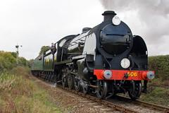 SR S15 Class Loco 506 (Signal Box - Railway photography) Tags: outdoor railway uk railroad autumn steam gala midhantsrailway hampshire locomotive engine train steamtrain sr urie 506 british railways 30506 460 class s15