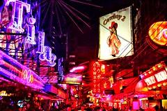 One Night in Bangkok (勇 YoungAdventure) Tags: thailand 泰國 タイ 태국 เชียงใหม่ bangkok 曼谷 バンコク 방콕 กรุงเทพมหานคร soicowboy neonlight redlight