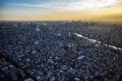 Tokyo Chūō (MLopht Photography   Dortmund) Tags: japan tokyo sumida kōtō chūō skytree turm tower aussichtsturm stadt city metropole metropolregion luftbild gebäude haus häuser hochhäuser geschäftsviertel himmel wolken fluss sumidariver canon eos r canoneosr 24105mm