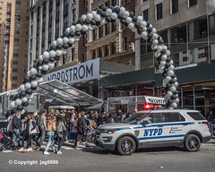 Nordstrom Opening Block Party, Midtown Manhattan, New York City (jag9889) Tags: 2019 20191026 225west57thstreet architecture auto automobile balloon blockparty broadway building car centralparktower departmentstore explore festival finest firstresponder flagship ford house lawenforcement mtn manhattan midtown ny nyc nypd newyork newyorkcity newyorkcitypolicedepartment nordstrom nordstromtower opening outdoor people policedepartment policepatrolcar suv sign skyscraper sportutilityvehicle store supertall text transportation usa unitedstates unitedstatesofamerica vehicle west57thstreet inexplore jag9889