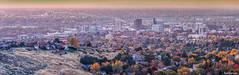 Boise Skyline Panorama Fall 2019 (Full Size) (Explored 10/27/2019) (fandarwin) Tags: boise skyline panorama fall 2019 autumn foliage sunset darwin fan fandarwin olympus omd em10
