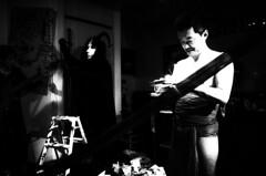 4yon (maxwellkimi) Tags: blackandwhite monochrome performance music art friends japan