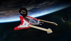Gibson Flying VV (ABS Shipyards) Tags: lego space scifi spaceship starship starfighter gibson flying v guitar rock roll heavy metal ldd render novvember vic viper