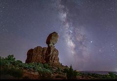 Balanced Rock and Milky Way (_patclancy56) Tags: balancedrock milkyway utah moab archesnationalpark