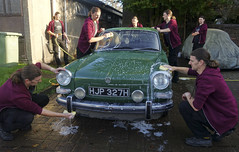 Wishy washy (Dave S Campbell) Tags: volkswagen vw fastback type3 car classic photoshop green elm carwash