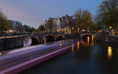 keizersgracht (Enrique EKOGA) Tags: amsterdam netherlands dutch architecture buildings houses old oldcity longexposure exposureblending lights water boat canal prinsengracht nikon d800e outdoor outside sky clouds colorful colours colors trees sunset lighttrail magenta keizersgracht holland autumn ultra wide angle lens ultrawideangle
