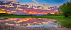 Sunset kaleidoscope (Dimitil) Tags: clouds cloudysky colors country county dramaticsky environs greece greenery hellas herbage lighth liquidmirror mirror nature nomi panorama pinios piniosriver plain rays reflections sky sunset sunsetcolors thessalicplain trees trikala water waterscape