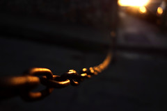 """""""Chainreaction"""" (westwood outdoors) Tags: chain kette street streetphotography iron sun bytheway bokeh"""