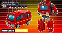 """Autobot Ironhide (""""Orion Pax"""") Tags: transformers lego moc ironhide nissan autobot"""