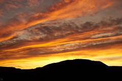 fire in the sky (Aspenlaub (blattboldt)) Tags: zeiss sony carlzeiss ilce7rm3 alpha7riii manualfocus manualiris manualexposure ⚶ emount manualwhitebalance nārrātō lātitūdō berakhah בְּרָכָה loxia235 loxia235biogon widenormal 35mm ludwigbertele 51736001 biogon landscape nature topography gleichberg jena thuringia germany europe morning sunrise yellow fire sky clouds thüringen