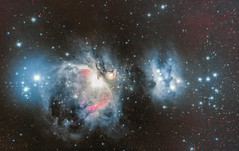 First M42 & NGC1977 2019 Done! (alexander_skaletz) Tags: orion running men nebula winter fall firstlight light 2019 sigma nikon bresser deutschland germany cs clearsky noise m42 ngc messier ngc1977 star stars space universe deepsky photography astro astronomy astrophotography milkyway night cold backyard astrometrydotnet:id=nova3735613 astrometrydotnet:status=solved