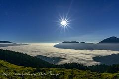 月光雲海 (Benz Yu) Tags: 合歡山 石門山 台14甲線 雲海 星芒 月光 風景 星空 夜景 月亮 山岳 森林 台灣百岳