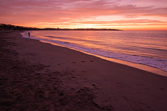 Very early Morning (helluvastar.on.the.way) Tags: early morgen sonnenaufgang sunset morning beach coast catalonia katalonien meer sea europe spain nikon tokina landscape sky nature outdoors summer