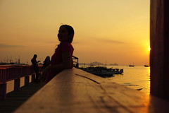 Pier (m_artijn) Tags: sunset photoshoot pier labuan bajo id wood sky