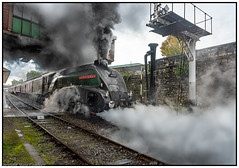 Letting off Steam. (steve.gombocz) Tags: steam trainz flickrtrains steamtrainphotos outdoors outandabout colour colours color flickraddicts platforms railwaystation buryboltonstreetstation railway unionofsouthafrica 60009 wagons steamlocomotive steamtrain locomotive train smoke steamengine railwayline green bury steamgala eastlancashirerailways nikon nikond810 nikoneurope nikoncamera nikkor nikonfx nikon2401200mmf40