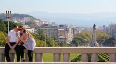 Lisbon 2019 - Lovers at Parque Eduardo VII, Sao Sebastiao da Pedreira (Gareth Wonfor (TempusVolat)) Tags: garethwonfor tempusvolat mrmorodo gareth wonfor tempus volat lisbon lisboa portugal holiday lovers friends lover selfie park sunshine 2019