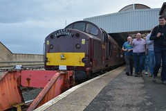 "West Coast Railway Company Class 37/5, 37516 ""Loch Laidon"" (37190 ""Dalzell"") Tags: wcrc westcoastrailwayscompany maroondip ee englishelectric type3 growler tractor class37 class375 37516 lochlaidon 37086 d6786 srps scottishrailwaypreservationsociety railtour thegallowayexplorer chartertrain stranraer"