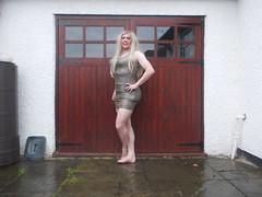 Green Metalic Dress 3 (AlexaJane9) Tags: crossdresser crossdress crossdressed crossdressing tgirl transvestite trans genderfluid femboi