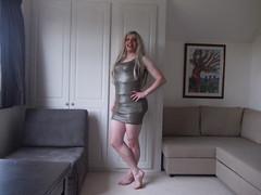 Green Metalic Dress 5 (AlexaJane9) Tags: crossdresser crossdress crossdressed crossdressing tgirl transvestite trans genderfluid femboi