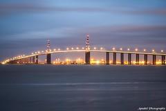 Pont de St Nazaire (Annabel Photographie) Tags: annabelphotographie canon600d pont saintnazaire paysdelaloire nuit lumière pause longue