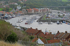 D23227.  River Esk. (Ron Fisher) Tags: river riveresk water wasser eau boats view town whitby yorkshire northyorkshire england gb greatbritain uk unitedkingdom europe europa 199steps panasonic panasoniclumixfz1000
