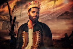 [ 📷 - 131 ] (insociable.sl) Tags: sunrise sunset beard alone apocalypse light war kingdom crown king man boy male model edit sl secondlife magnificient