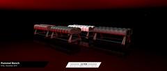 22769 - Pummel Bench : Kinky November 2019 (manuel ormidale) Tags: pommel bench furniture leather interior wood used animations couple single kinky 22769 22769bauwerk bauwerk pacopooley red black green white kinkyevent