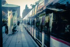 Tram (1 of 1) (ianmiddleton1) Tags: edinburgh tram movement motion
