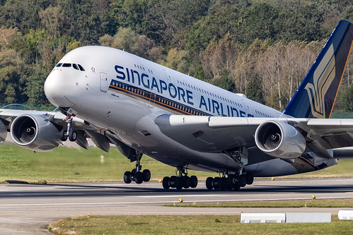 SIA - A380-800 take off from R/W16.