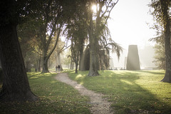 At the park (maxlaurenzi) Tags: park nature sun fall autumn mantua italy walking 50mm ray light romantic cinematic green trees