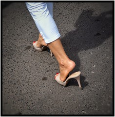 Come to heel, Phnom Penh. (the jacal) Tags: feet heels phnompenh cambodia cambodge highheels redtoenails sexyfeet southeastasia khmer street roads