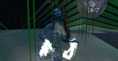 Little blue aliens (Duchess Willow) Tags: firestorm secondlife sundayservice uwa djverdant quadrapop qtgallery secondlife:region=universityofwa secondlife:parcel=qtgallerytheuniversityofwesternaustraliauwa secondlife:x=148 secondlife:y=27 secondlife:z=1550