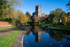 St. Mary and All Saints Church Kidderminster, Worcestershire (Vortex Photography - Duncan Monk) Tags: parish church ismere st mary all saints kidderminster worcestershire 12th century medieval listed building staffordhsire canal reflection autumn colours sunny october 2019
