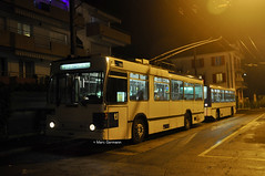 Trolleybus NAW BT-25 n°780 en service sur la ligne 9. (Marc Germann) Tags: trolleybus naw bt25 tl lausanne ligne9 retrobus vanhool newa330 mercedescitarobenz transportspublics remorques historique historic fbw bus par brise convois