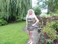 Green Metalic Dress 1 (AlexaJane9) Tags: crossdresser crossdress crossdressed crossdressing tgirl transvestite trans genderfluid femboi