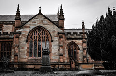 Saint Mary the Virgin Bowdon Parish Anglican Cemetery, Cheshire (Bobbex) Tags: anglican church churchyard cemetery gravestone graveyard graves religious christian christianity unitedkingdom england britain cheshire sandstone