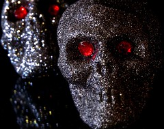 Rubies (johnsinclair8888) Tags: skull ruby eyes glitter fake macromondays sony a6000 50mm crop affinityphoto
