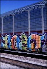bozo (timetomakethepasta) Tags: bozo gets 42 etc freight train graffiti art ferromex autorack